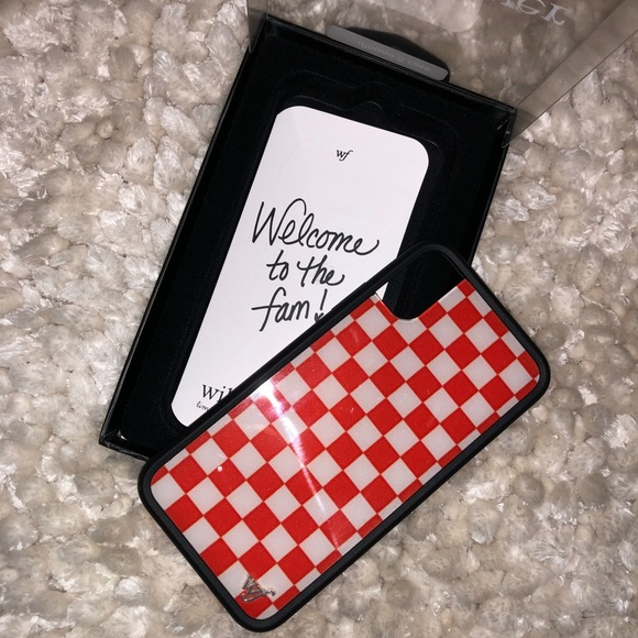 online store fb098 c44f5 Red Checkered Wildflower iPhone X Case